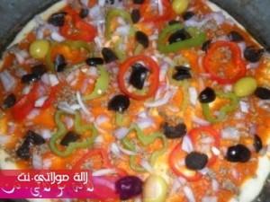 بيتزا سهلة وسريعة بالصور4