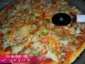بيتزا سهلة وسريعة بالصور7