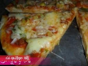بيتزا سهلة وسريعة بالصور8