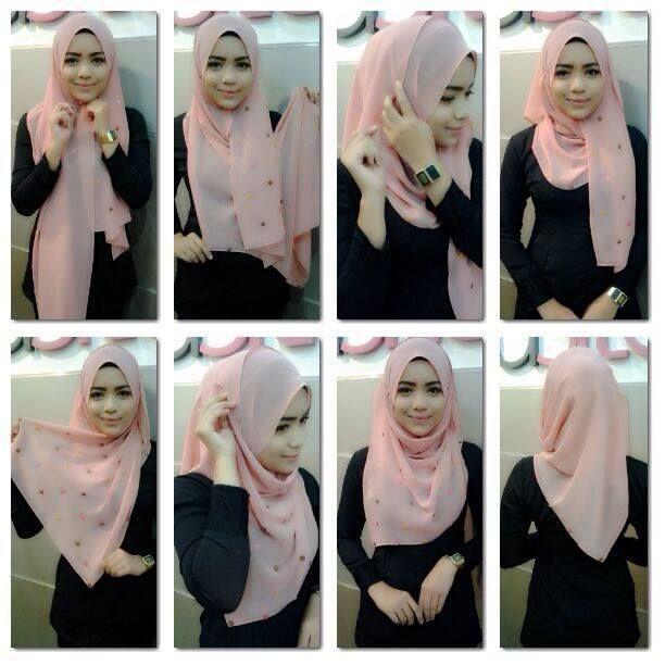خطوات بسيطة و بسيطة للف الحجاب