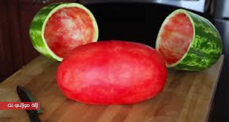 خدعة تقشير البطيخ بدون أي خدش