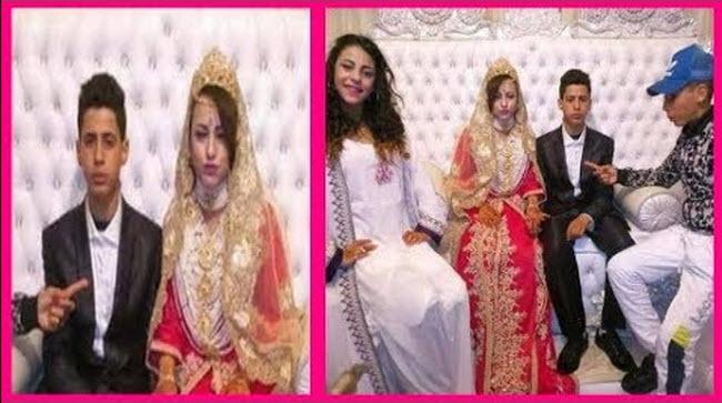زواج قاصرين … عرسان مغاربة يبلغان من العمر 14 سنة يشعلان مواقع التواصل